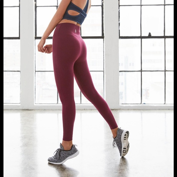 Free People Pants - Free people movement Fp sculpt leggings berry s